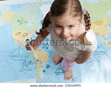 Travel planning - stock photo