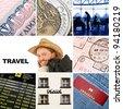Travel - Set of travel theme shots - stock photo