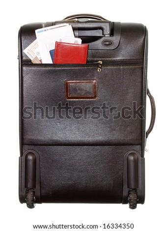 travel suitcase - stock photo