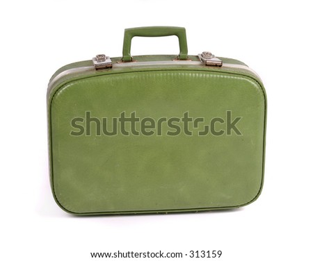 Travel suitcase. Contains clipping path - stock photo