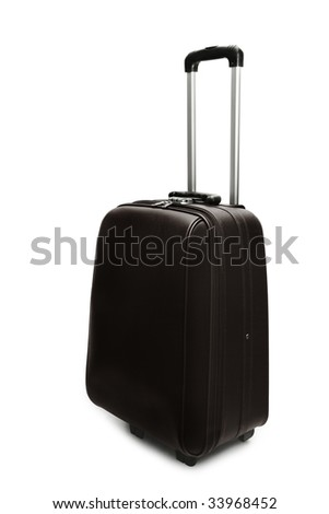 Travel suitcase isolated on white