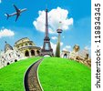Travel the world conceptual image - stock photo