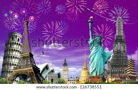 Travel The World, Festival, concept - stock photo