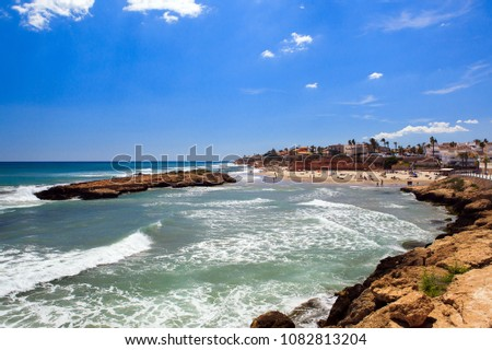 Travel to Spain on the Costa Blanca, the rocks, the sea, the beach and the island of Carmen