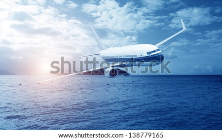 Travel to the tropical countries by plane
