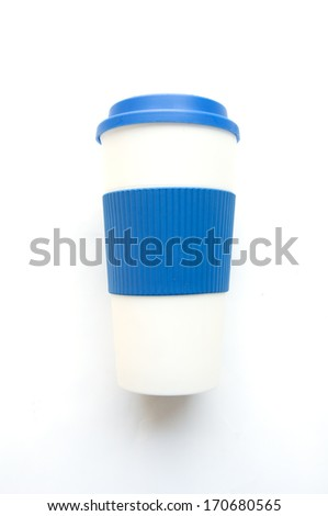 travel tumbler, cup. Closeup