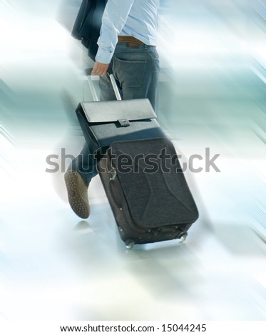 Traveler at the airport - stock photo