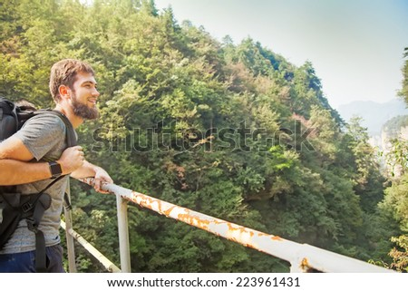 traveler in china - stock photo