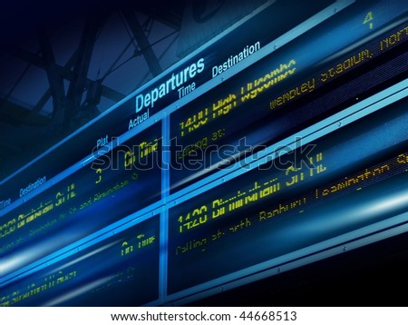 traveler information board - stock photo