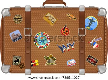 traveler suitcase stickers stock illustration 786511027 shutterstock