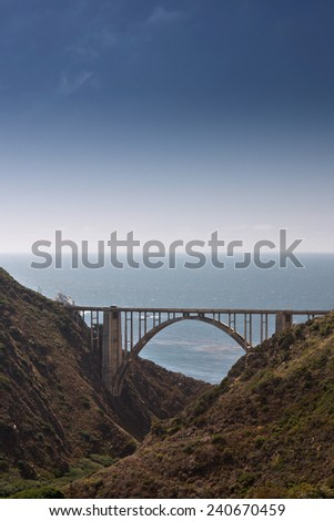 Traveling Big Sur, California, USA - stock photo
