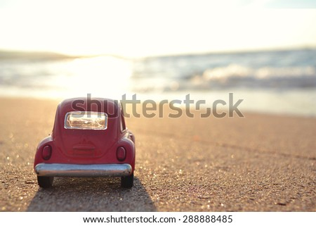 Traveling by the car - stock photo