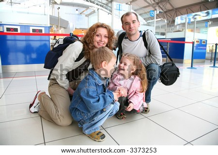 traveling family - stock photo