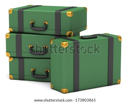 Traveling suitcases - stock photo