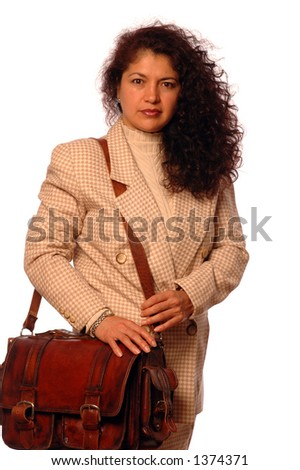 travelling business woman - stock photo
