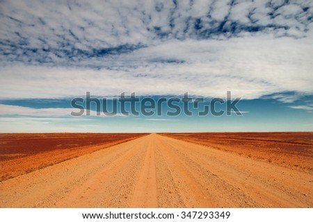 travelling the Sturt Stony Desert, South Australia, Australia