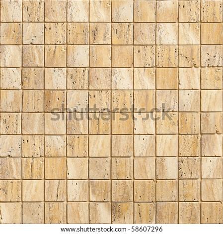 Travertine stone tiles - stock photo