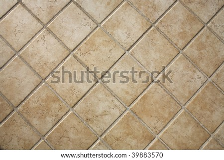travertine  tiles - stock photo