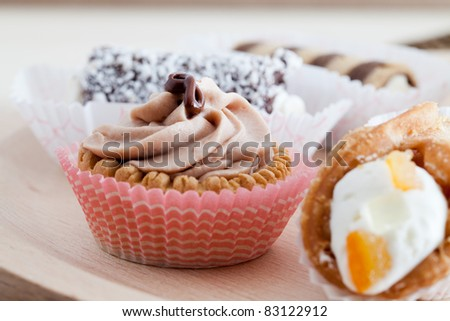 tray of delicious and tasty pastries