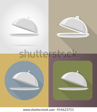 tray with lid objects and equipment for the food illustration isolated on background