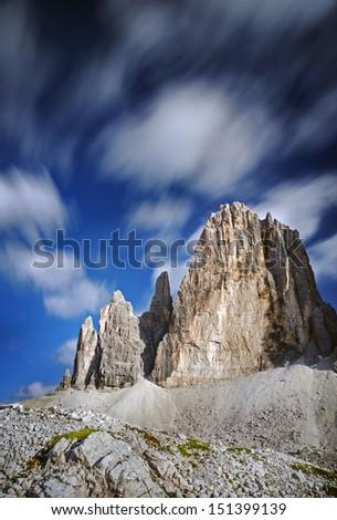 tre cime di lavaredo -Italy - stock photo