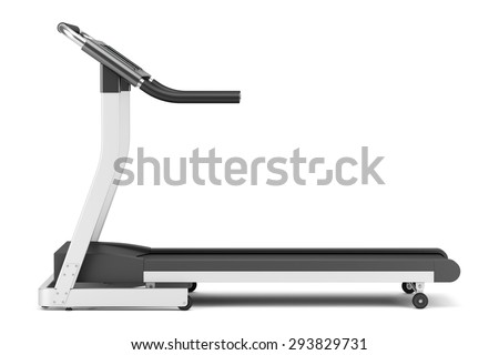 treadmill isolated on white background