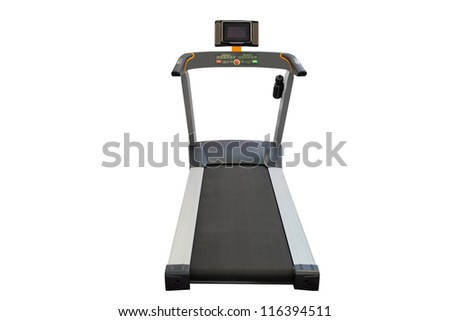 treadmill isolated under the white background - stock photo