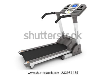 Treadmill Machine on a white background - stock photo