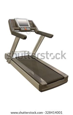 Treadmill on a white background - stock photo