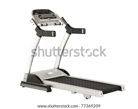 Treadmill the running exercise tool isolated on white