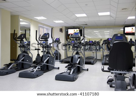 Treadmills at a small health club