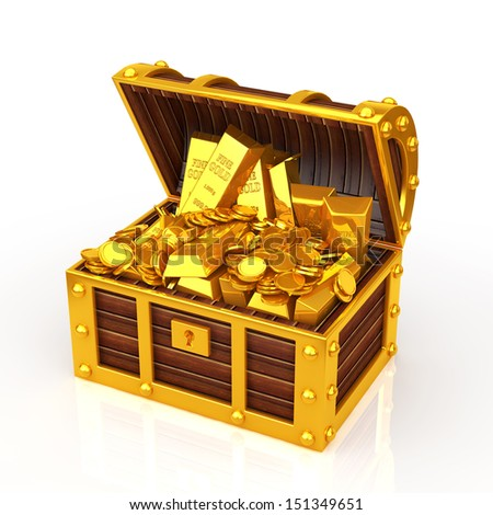 treasure box - stock photo