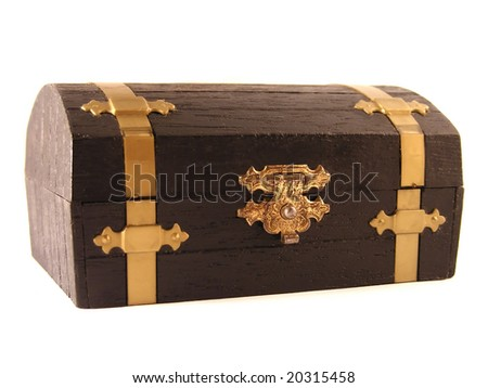 Treasure box with isolated background.