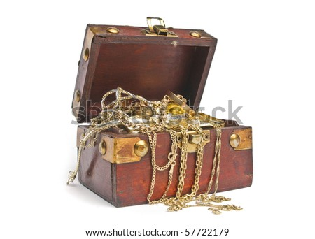 Treasure chest - stock photo