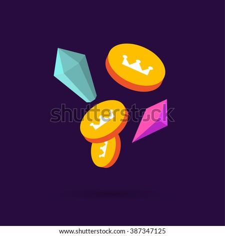 treasure elements - stock photo