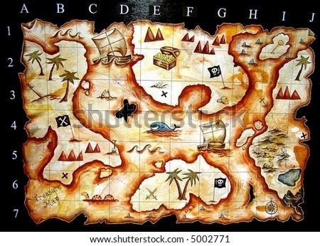 treasure map game - stock photo
