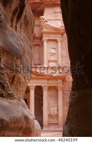 Treasury in Petra. Jordan.