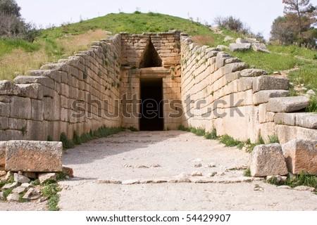 Treasury of Atreus in Mycenae, Greece - stock photo