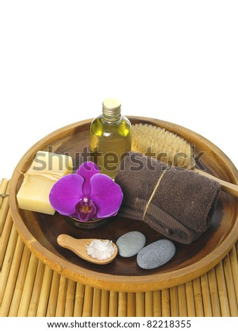 treatment in a natural spa - stock photo
