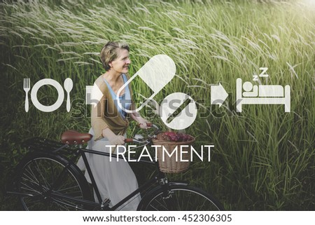 Treatment Medical Health Wellbeing Proper Care Concept - stock photo