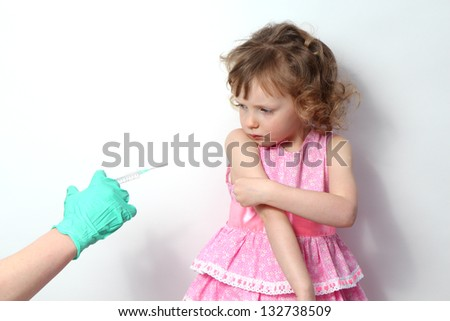 Treatment of a little girl. - stock photo