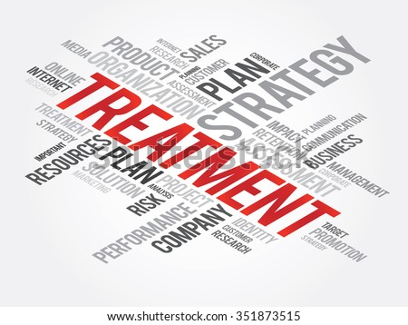 Treatment Word Cloud, business concept background - stock photo