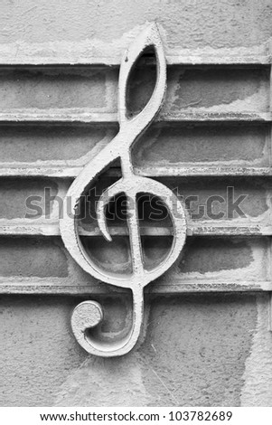 treble clef - stock photo