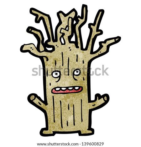 tree cartoon character - stock photo