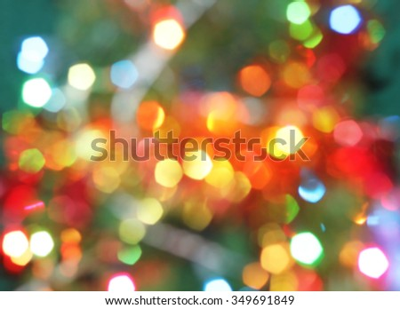 Tree Christmas light bokeh decorate abstract background  - stock photo