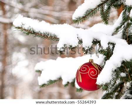 tree, christmas, snow