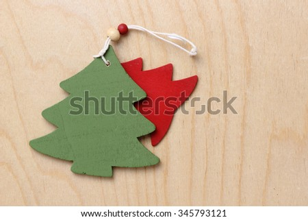 Tree Christmas symbol wooden decoration