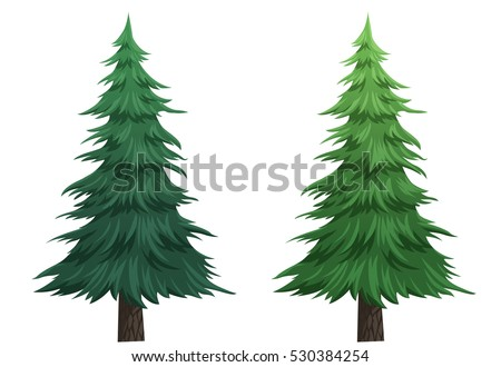tree cartoon isolated on white background stock illustration rh shutterstock com cartoon pine tree clip art Cartoon Palm Tree