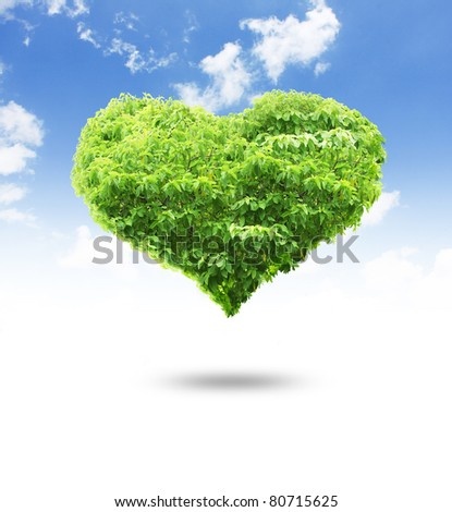 tree heart shape for your design - stock photo