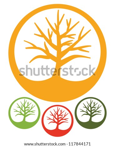 Tree  icon - stock photo